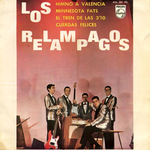 portada del disco Himno a Valencia / Minnesota Fats / El Tren de las 3 y 10 / Cuerdas Felices