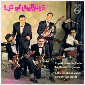 portada del disco Cuando Cesa la Lluvia / Tambores de Guerra / Baby Elephant Walk / Ciudad Sumergida