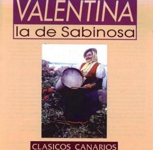 portada del disco Valentina la de Sabinosa