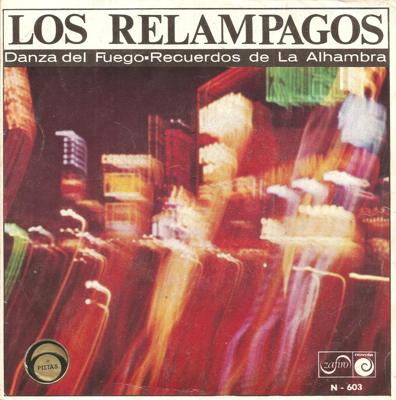 portada del disco Danza del Fuego / Recuerdos de La Alhambra