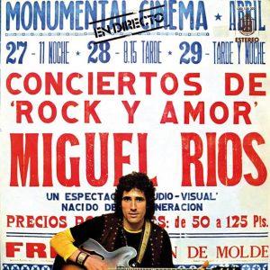 portada del disco Miguel Ríos en Directo: Conciertos de Rock y Amor