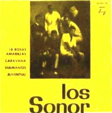 portada del disco 18 Rosas Amarillas / Caravana / Diamantes / Juventud