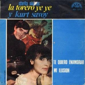 portada del disco Clarita Montes, la Torero Ye Ye, y Kurt Savoy