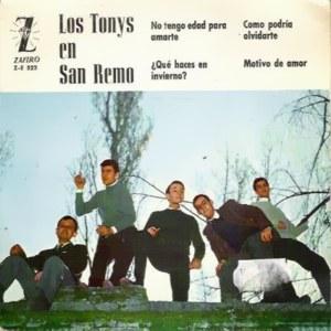 portada del disco Los Tonys en San Remo