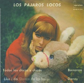 portada del disco Todos los Chicos y Chicas / Like I do / Bonanza / Danny