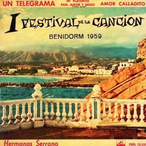 portada del disco I Festival de la Canción Benidorm 1959