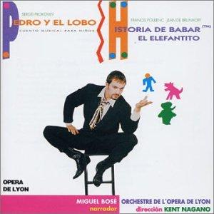 portada del disco Pedro y el Lobo / Historia de Babar el Elefantito