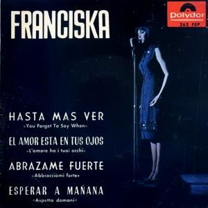 portada del disco Hasta más Ver / El Amor Está en Tus Ojos / Abrázame Fuerte / Esperar a Mañana