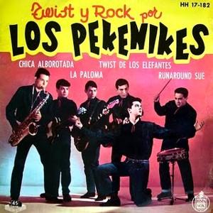 portada del disco Twist y Rock con Los Pekenikes