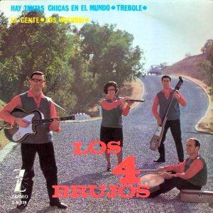 portada del disco Hay Tantas Chicas en el Mundo / Trébole / La Gente / Los Watussi
