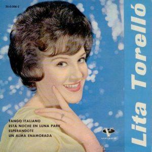 portada del disco Tango Italiano / Esta Noche en Luna Park / Esperándote / Un Alma Enamorada