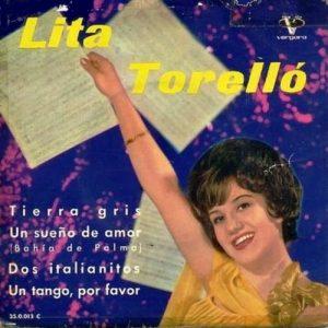 portada del disco Tierra Gris / Un Sueño de Amor (Bahía de Palma) / Dos Italianitos / Un Tango, por Favor