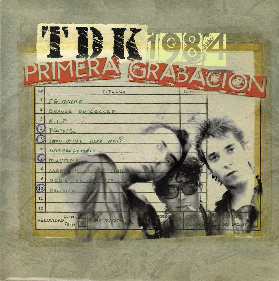 portada del album 1984 Primera Grabación