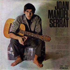 portada del disco Cançó de Matinada / Me'n Vaig a Peu / Paraules d'Amor / Les Sabates