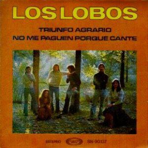 portada del disco Triunfo Agrario / No me Paguen porque Cante