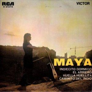 portada del disco Indiecito Dormido / El Arriero / Huella Huellita / Caminito del Indio