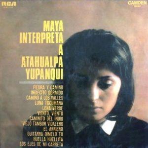 portada del disco Maya Interpreta a Atahualpa Yupanqui