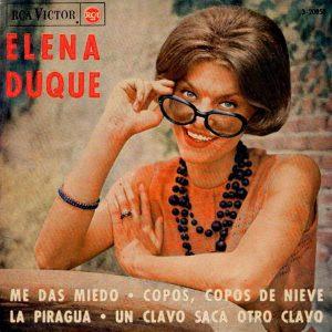 portada del disco Me Das Miedo / Copos, Copos de Nieve / La Piragua / Un Clavo Saca Otro Clavo