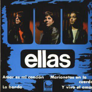 portada del disco La Banda / Amor es mi Canción / Y Viva el Amor / Marionetas en la Cuerda