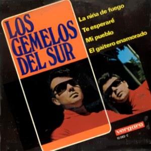 portada del disco La Niña de Fuego / Te Esperaré / Mi Pueblo / El Gaitero Enamorado