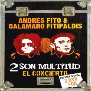 portada del disco Andrés Calamaro y Fito & Fitipaldis: 2 Son Multitud