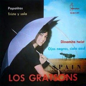 portada del disco Popotitos / Triste y Sola / Dinamita Twist / Ojos Negros, Cielo Azul