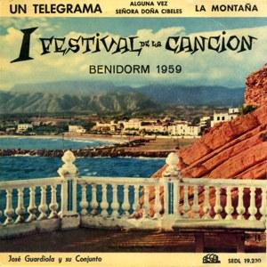 portada del disco I Festival de la Canción de Benidorm