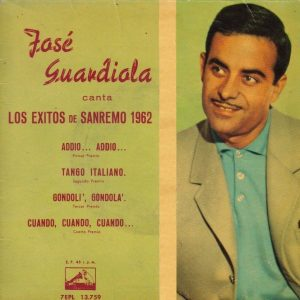 portada del disco Los Éxitos de San Remo, 1962