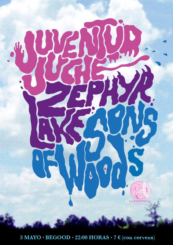 portada del evento JUVENTUD JUCHÉ DESEMBARCAN EN BARCELONA PARA TOCAR JUNTO A ZEPHYR LAKE Y SONS OF WOODS