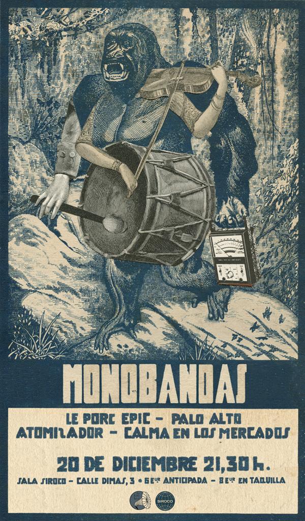 portada del evento FESTIVAL MONOBANDAS: LE PORC-EPIC, PALO ALTO, ATOMIZADOR Y CALMA EN LOS MERCADOS