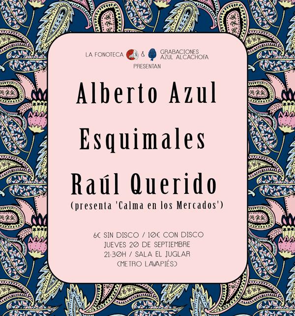"""portada del evento SEGUNDA PRESENTACIÓN """"MADRID ESTÁ HELADO"""": ALBERTO AZUL, ESQUIMALES Y CALMA EN LOS MERCADOS."""