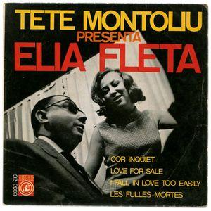 portada del disco Tete Montoliú Presenta Elia Fleta