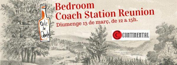cartel del evento DEQUINTOS#13: BEDROOM + COACH STATION REUNION + CHARLA CON EDITORIALES