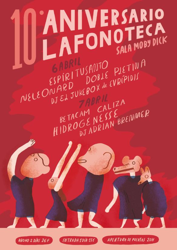 cartel del evento DÉCIMO ANIVERSARIO DE LAFONOTECA