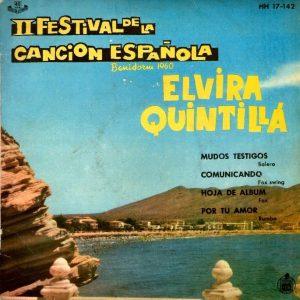 portada del disco II Festival de la Canción Española