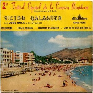 portada del disco 2º Festival Español de la Canción-Benidorm