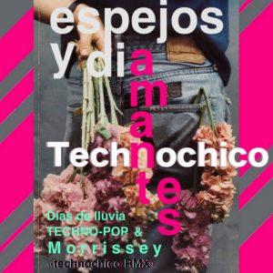 portada del album Días de Lluvia, Techno-Pop y Morrissey Remix (Espejos y Diamantes)
